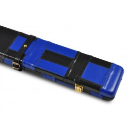 Peradon Black & Blue Patchwork Leather 3/4 Case
