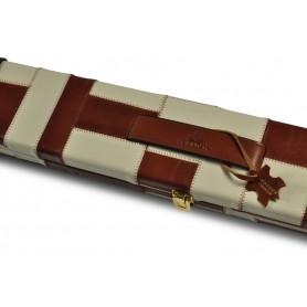 Peradon Tan & Cream Patchwork Leather 3/4 Case
